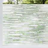 rabbitgoo Privacy Window Film Frosted Matte Window Sticker Static Cling Door Film No Glue Glass Film Window Sticker Anti-UV Glass Film for Home Office Living Room Meeting Room(35.4' x 78.7')