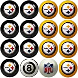 Imperial Officially Licensed NFL Merchandise: Home vs. Away Billiard/Pool Balls, Complete 16 Ball Set, Pittsburgh Steelers