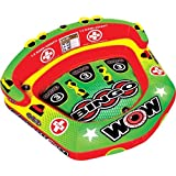 WOW World of Watersports Bingo Inflatable Towable Tube, Secure Cockpit Seating Towable, Front and Back Tow Points, 1-3 Riders