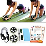 Ab Roller Wheels for Men & Women for Perfect Abs Training, Toning & Total Fitness