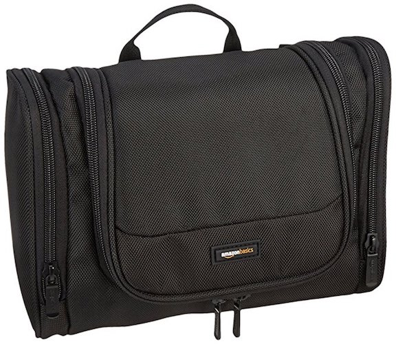 6. AmazonBasics Hanging Toiletry Kit