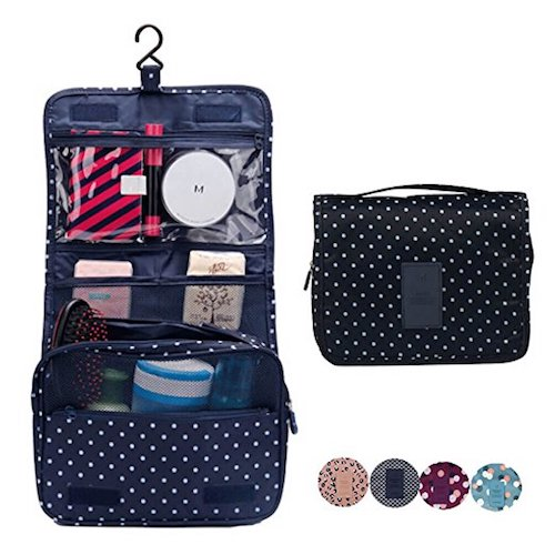 5. CalorMixs Hanging Toiletry Cosmetics Travel Bag