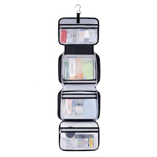 1. Expert Travel Premium Hanging Toiletry Bag