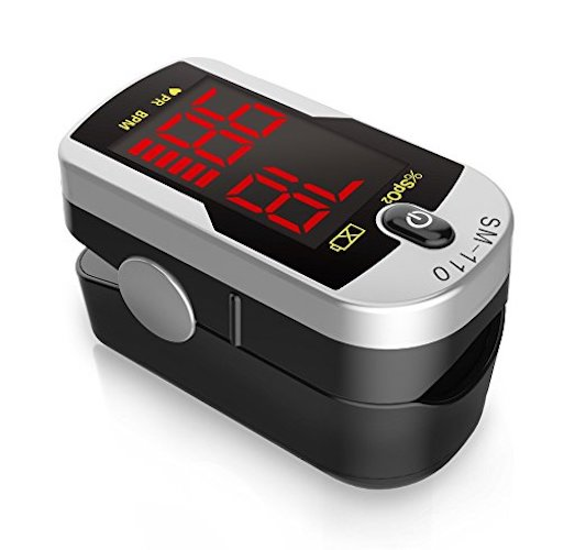 10. Santamedical Deluxe SM-110 Two Way Display Finger Pulse Oximeter