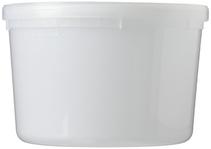 4. Extreme Freeze Reditainer 64 oz. Freezeable Deli Food Containers w/ Lids - Package of 8 - Food Storage