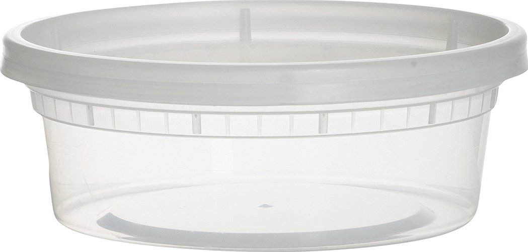 1. Paksh Novelty Plastic Containers for Lunch / Small Food Containers with Lids, Leak Proof, Microwavable, Freezer And Dishwasher Safe, 8 Ounce, 40 Pack