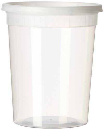3. YW Plastic Soup/Food Container with Lids (12), 32 oz.