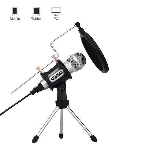 3. Professional Condenser Microphone, Plug &Play Home Studio microphones for iPhone Android Recording PC Computer Laptop Podcasting