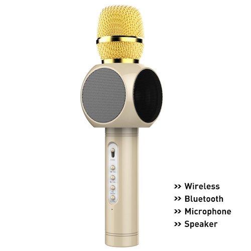 5. Wireless Microphone Karaoke, beawelle Portable Karaoke Player with Bluetooth Speaker for Home KTV Singing