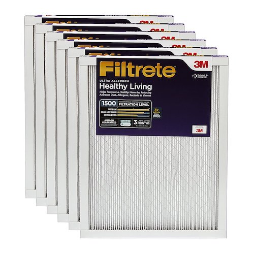 5. Filtrete Healthy Living Ultra Allergen Reduction AC Furnace Air Filter, Guaranteed Airflow up to 90 days, Exclusive 3-in-1 3M Technology, MPR 1500, 14 x 24 x 1-Inches, 6-Pack