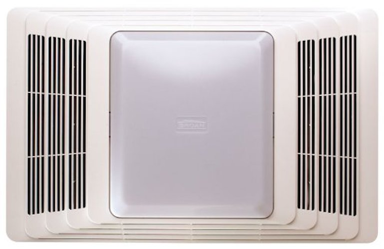 8. Broan 696 Fan and Light with Acoustic Insulation, 100 CFM 4.5 Sones, White Grille