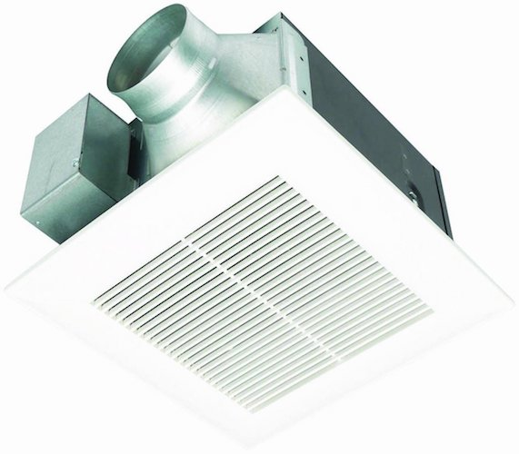 1. Panasonic FV-11VQ5 WhisperCeiling 110 CFM Ceiling Mounted Fan, White