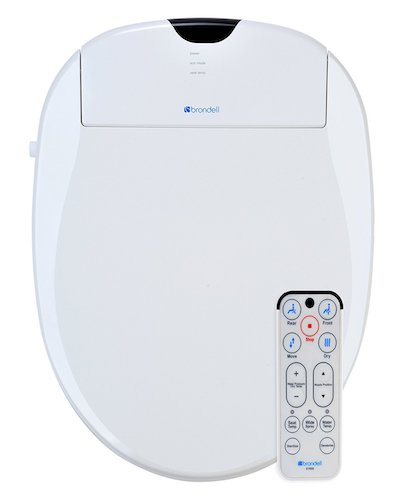 5. Brondell S1000-EW Swash 1000 Advanced Bidet Elongated Toilet Seat, White