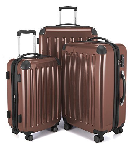 10. HAUPTSTADTKOFFER Luggages Sets Glossy Suitcase Sets Hardside Spinner Trolley Expandable (20