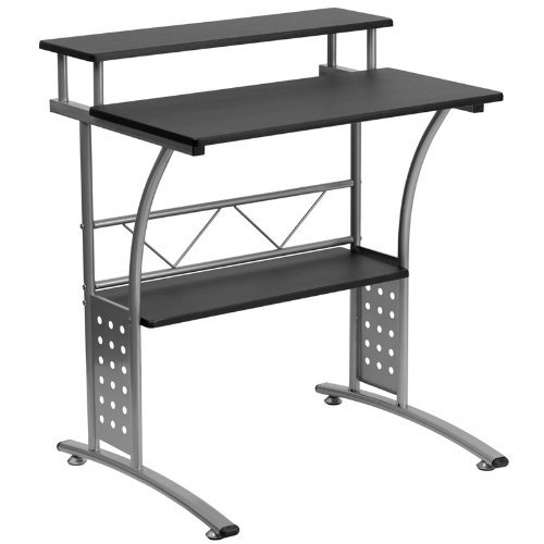 1. Flash Furniture Clifton Black Computer Desk