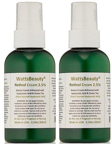 4. Watts beauty 2.5% retinol cream