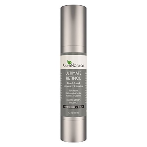 5. Azure naturals ultimate retinol lime infused organic moisturizer