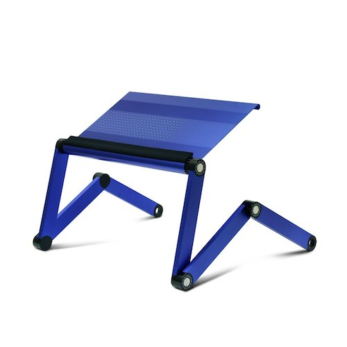 4. Furinno A6-Blue Ergonomics Aluminum Vented Adjustable Multi-functional Laptop Desk Portable Bed Tray