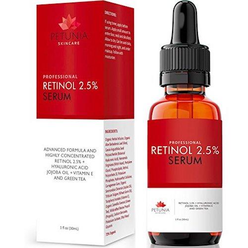 3. Petunia Skincare best retinol cream