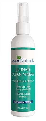 9. Azure Naturals ultimate ocean mineral organic facial cleanser