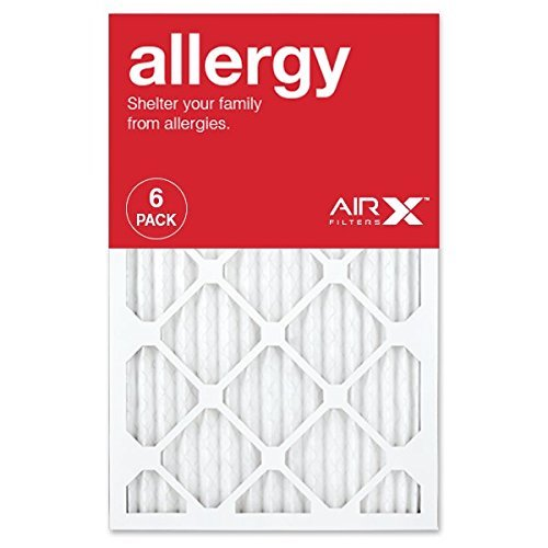 3. AIRx ALLERGY 16x25x1 MERV 11 Pleated Air Filter - Made in the USA - Box of 6