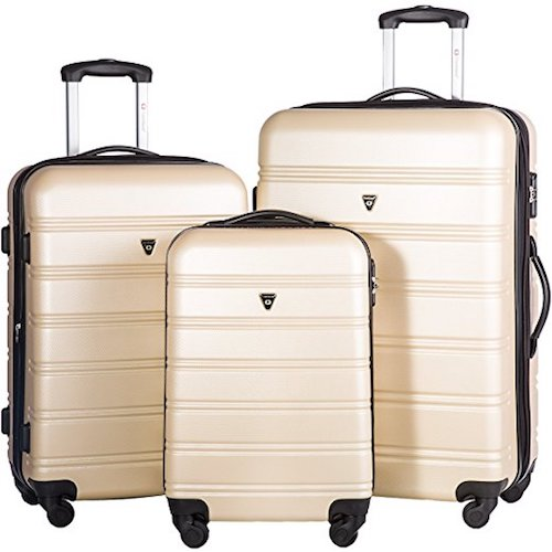 5. Merax Travelhouse Luggage Set 3 Piece Expandable Lightweight Spinner Suitcase