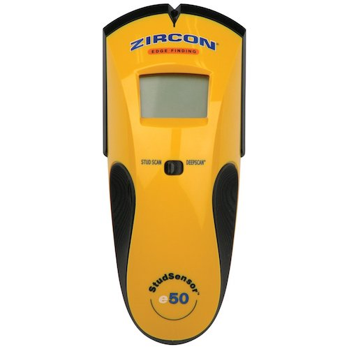1. Zircon StudSensor e50-FFP Edge Finding Stud Finder with Live AC WireWarning Detection