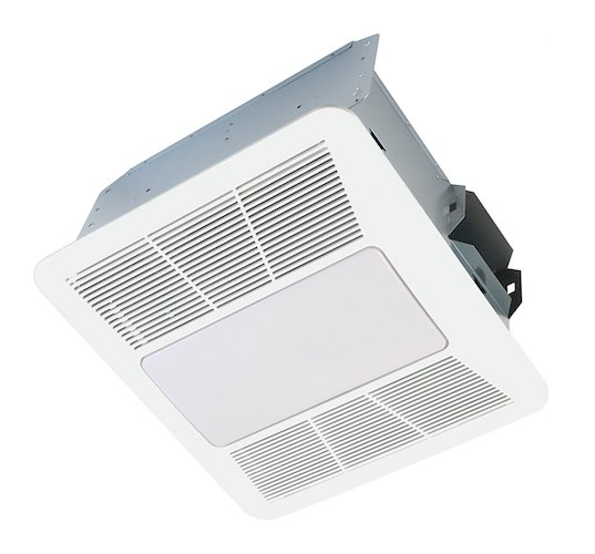 9. KAZE APPLIANCE SE110L2 Ultra Quiet Bathroom Exhaust Fan with LED Light and Night Light, 110 CFM, 0.9 Sones