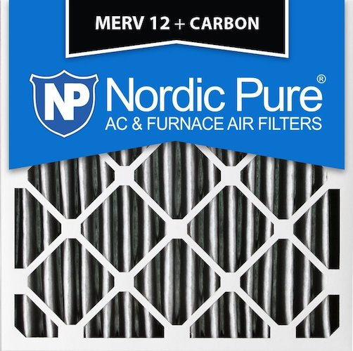 9. Nordic Pure 18x18x1PM12C-3 Pleated MERV 12 Plus Carbon AC Furnace Filters (3 Pack), 18 x 18 x 1