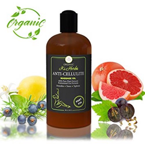 10. Massage Oil. Organic Anti-Cellulite Massage Oil. 100% Pure Plant Based Professional Cellulite Treatment. Reduces Appearance of Cellulite, Tones and Detoxifies Skin.
