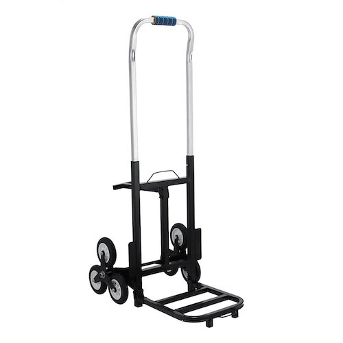3. BestEquip 420 LBS Capacity Stair Climber Cart 30 Inch Folded Height Folding Stair Climbing Cart Three-wheel Chassis Portable Stair Climber Hand Truck