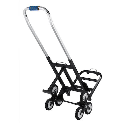 7. VEVOR Stair Climbing Cart Portable Climbing Cart 330 lb Capacity All Terrain Stair Climbing Hand Truck Folding Stair Hand Truck Heavy Duty with 6 Wheels (Black)