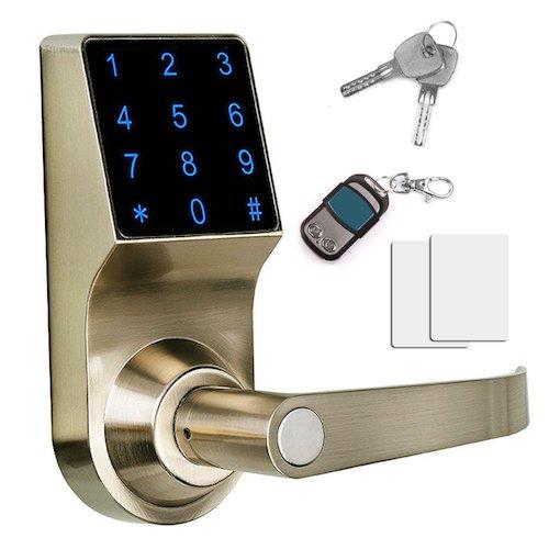 Best Commercial Electronic Door Lock Systems: 5. THINK SOGOOD Touchscreen Keyless Password Lever Door Lock