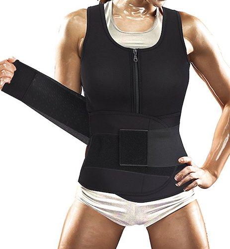6. Women Sauna Suit Waist Trainer Vest for Sport Workout Weight Loss Corset with Belt Neoprene Shirt Body Shaper Tank Top