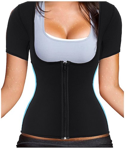 4a99fb63c3 Gotoly Women s Neoprene Sauna Vest with Sleeves Gym Hot Sweat Suit Weight  Loss