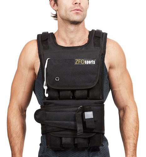 4. ZFOsports 40lbs Adjustable Weighted Vest
