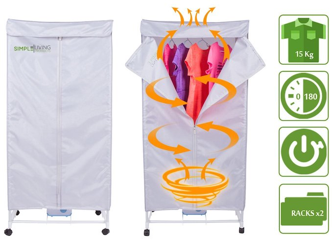 3. 15KG Compact Electric Portable Clothing Dryer - Portable Clothes Dryer Rack Dries Clothing in 30 Minutes
