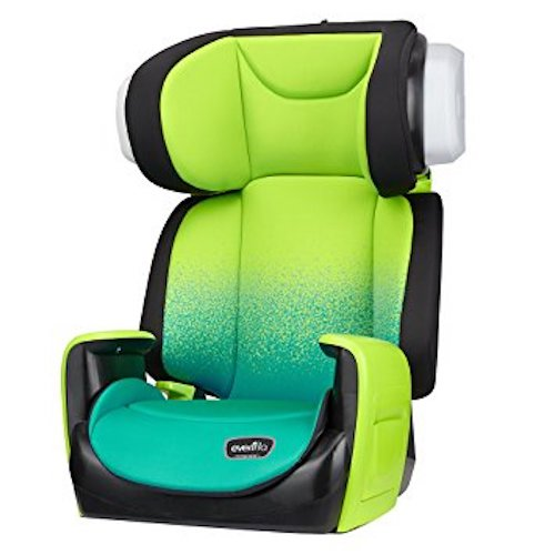 4. Evenflo Spectrum 2-in-1 Booster Car Seat, Seascape