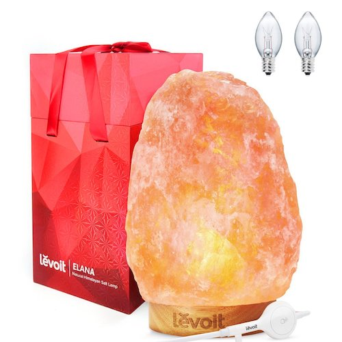 2. levoit Elana Natural Hand Carved Himalayan Salt Lamp