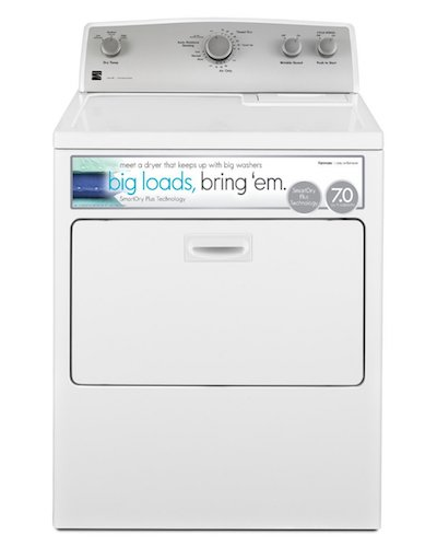 9. Kenmore 75132 7.0 cu. ft. Gas Dryer with SmartDry Plus Technology in White, includes delivery and hookup