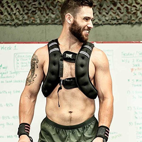 10. 20lb Fixed Vests/ Easy Adjust Fit/ For Body Weight, Agility and More