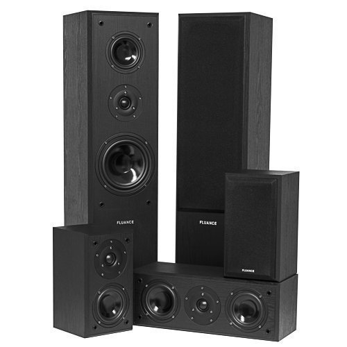 7. Fluance AVHTB Surround Sound Home Theater 5.0 Channel Speaker System