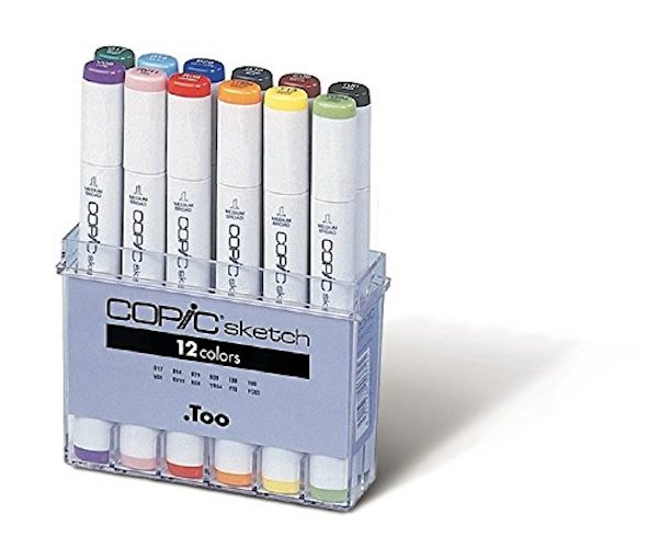 3. Copic Marker 12-Piece Sketch Basic Set