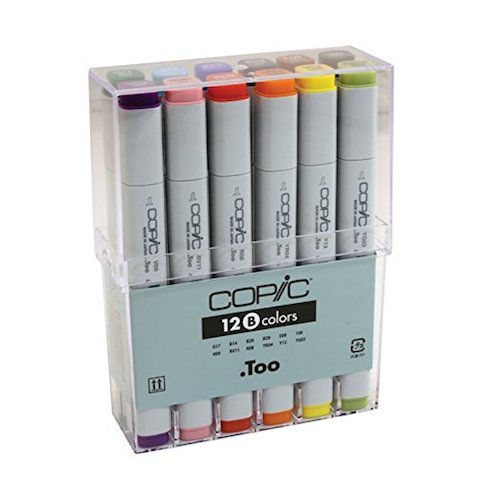 10. Copic Markers 12-Piece Basic Set
