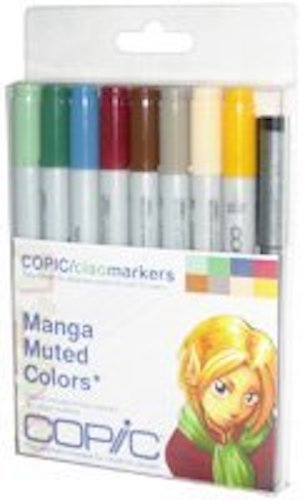 7. Copic Markers 9-Piece Ciao Manga Set, Muted
