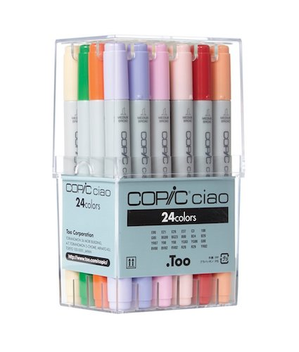 6. Copic Ciao Markers 24pc Basic Set