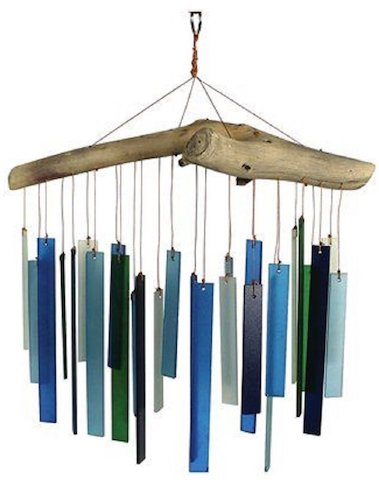 6. Gift Essentials Seaglass and Driftwood Wind Chime
