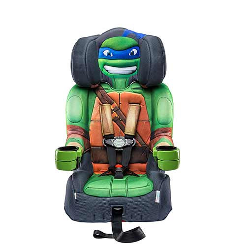 2. KidsEmbrace Nickelodeon Booster Car Seat, Teenage Mutant Ninja Turtles Leo Combination Seat, 5 Point Harness, Green, 65500LEOt