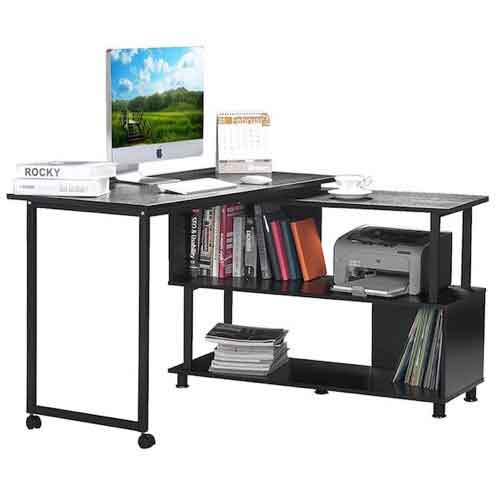 3. Merax Rotatable Computer Desk