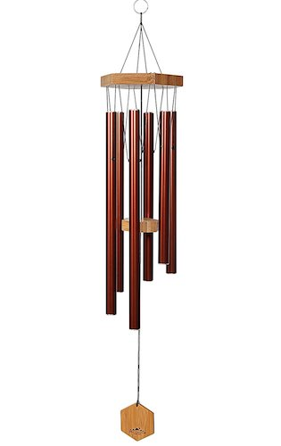 2. WIND CHIMES FOR PEOPLE WHO LIKE THEIR NEIGHBORS, Soothing Melodic Tones & Solidly Constructed Bamboo/Aluminum Chime, Great as a Quality Gift or to keep for Your own Patio, Porch, Garden, or Backyard.